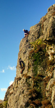 Climbing in Borrowdale